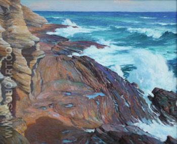 Rock Rhythms of The Waves c1934 - Joseph Henry Sharp reproduction oil painting