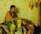 Shelling Corn - Joseph Henry Sharp reproduction oil painting