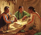 Story of The War Robe - Joseph Henry Sharp reproduction oil painting