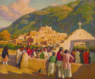 Sunset Dance Ceremony to The Evening Sun 1924 - Joseph Henry Sharp reproduction oil painting