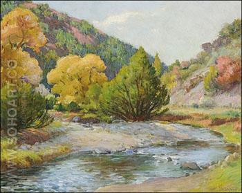 Taos Canyon A - Joseph Henry Sharp reproduction oil painting