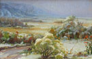 Taos Valley from Studio Yard - Joseph Henry Sharp reproduction oil painting