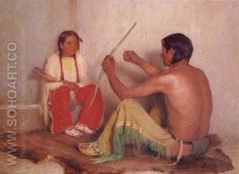 The Broken Bow - Joseph Henry Sharp reproduction oil painting