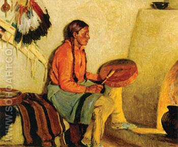 The Drum Song - Joseph Henry Sharp reproduction oil painting