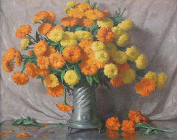 The Marigolds c1940 - Joseph Henry Sharp reproduction oil painting