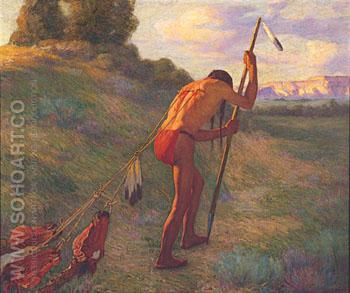 The Stoic 1914 - Joseph Henry Sharp reproduction oil painting