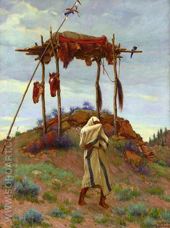 The Voice of The Great Spirit 1906 - Joseph Henry Sharp reproduction oil painting