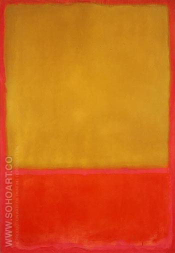 Ochre and Red - Mark Rothko reproduction oil painting