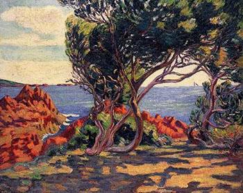 Agay at Cap Long - Armand Guillaumin reproduction oil painting