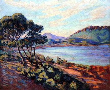 Agay Bay c1910 - Armand Guillaumin reproduction oil painting