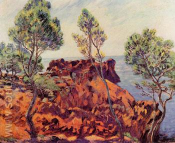 Agay Red Rocks - Armand Guillaumin reproduction oil painting