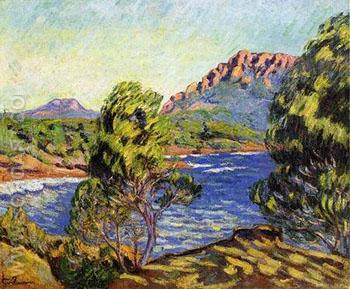Agay the Bay During The Mistral - Armand Guillaumin reproduction oil painting
