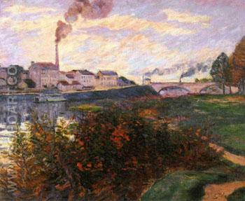 Banks of The Marine 1885 - Armand Guillaumin reproduction oil painting