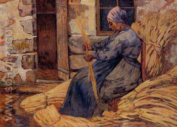 Basket Maker Damiette 1884 - Armand Guillaumin reproduction oil painting