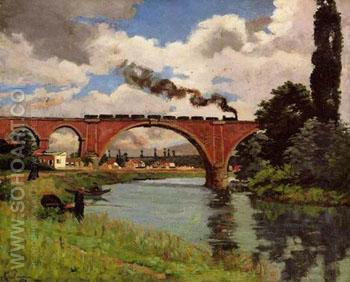 Bridge over the marine at Joinville - Armand Guillaumin reproduction oil painting