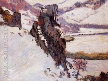 Creuse in the Snow - Armand Guillaumin reproduction oil painting
