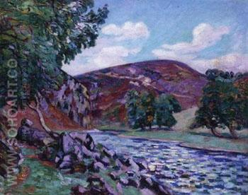 Crozant Landscape - Armand Guillaumin reproduction oil painting