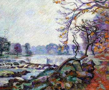 Dam at Genetin Crozant - Armand Guillaumin reproduction oil painting