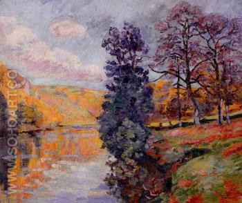 Echo Rock Crozant - Armand Guillaumin reproduction oil painting