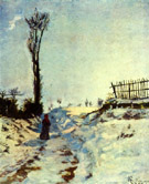 Hohlweg in the Snow 1869 - Armand Guillaumin reproduction oil painting