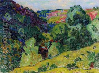 La Creuse Landscape - Armand Guillaumin reproduction oil painting