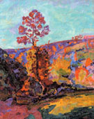 Landscape at Crozant - Armand Guillaumin reproduction oil painting