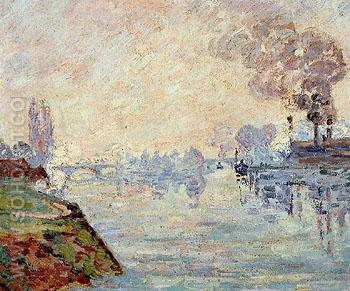 Landscape in the Vicinity of Rouen - Armand Guillaumin reproduction oil painting