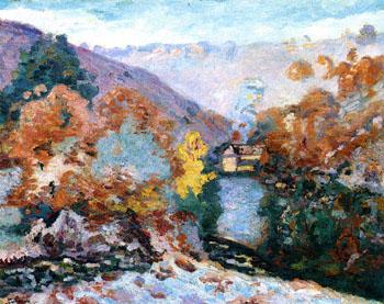 Landscape La Folie - Armand Guillaumin reproduction oil painting