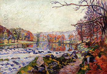 Landscape near the Creuse - Armand Guillaumin reproduction oil painting