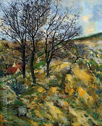 Landscape with Red Roofs - Armand Guillaumin reproduction oil painting