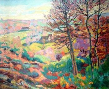 Landscape with Tree - Armand Guillaumin reproduction oil painting