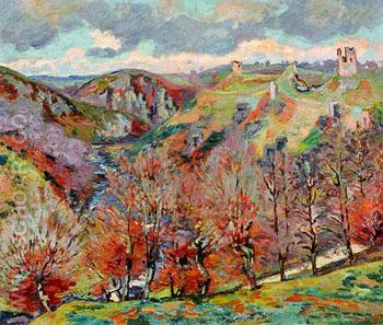 Landschaft Mit Ruinen - Armand Guillaumin reproduction oil painting