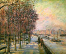 La Place Valhubert 1875 - Armand Guillaumin reproduction oil painting