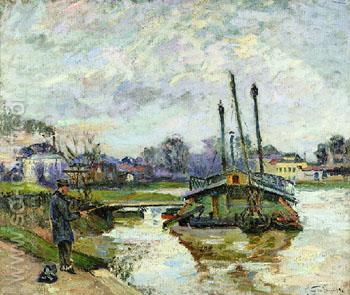 Laundry Boat at Charenton c1880 - Armand Guillaumin reproduction oil painting