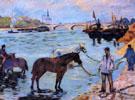 Le Quai de Bercy c1885 - Armand Guillaumin reproduction oil painting