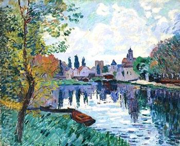 Moret Sur Loing - Armand Guillaumin reproduction oil painting