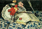 Nature Morte Fleurs Faience Livres 1872 - Armand Guillaumin