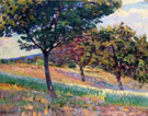 Orchard at the Edge of the Woods in Saint Cheron - Armand Guillaumin reproduction oil painting