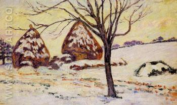 Palaiseau Snow Effect 1883 - Armand Guillaumin reproduction oil painting