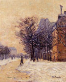Passers by in Paris in Winter 1888 - Armand Guillaumin
