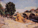 Pont Marie From the Quai dAnjou 1883 - Armand Guillaumin reproduction oil painting