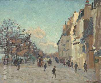 Quai de La Gare Effect de Neige 1873 - Armand Guillaumin reproduction oil painting