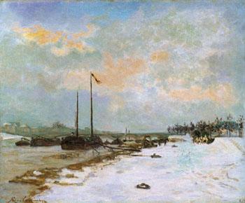 Quai de Seine a Paris 1873 - Armand Guillaumin reproduction oil painting