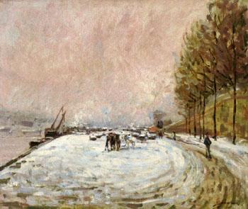 Quai Saint Bernard in the Snow 1882 - Armand Guillaumin reproduction oil painting
