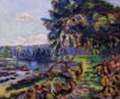 Rapids at Genetin 2014 - Armand Guillaumin reproduction oil painting