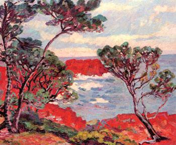 Red Rocks - Armand Guillaumin reproduction oil painting