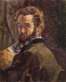 Self Portrait with Easel 1878 - Armand Guillaumin