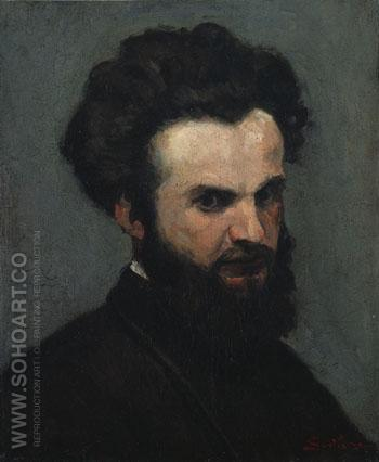Self Portrait c1872 - Armand Guillaumin reproduction oil painting