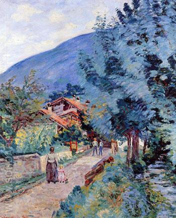 Shaded Road Pontchara - Armand Guillaumin reproduction oil painting