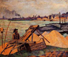 Sifting Sand - Armand Guillaumin reproduction oil painting